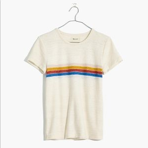 Hi-Fi Shrunken Tee in Placed Stripe
